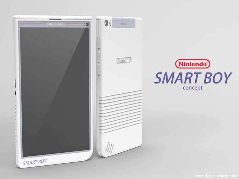 Smart Boy - A designer imagines what might look like a Nintendo smartphone