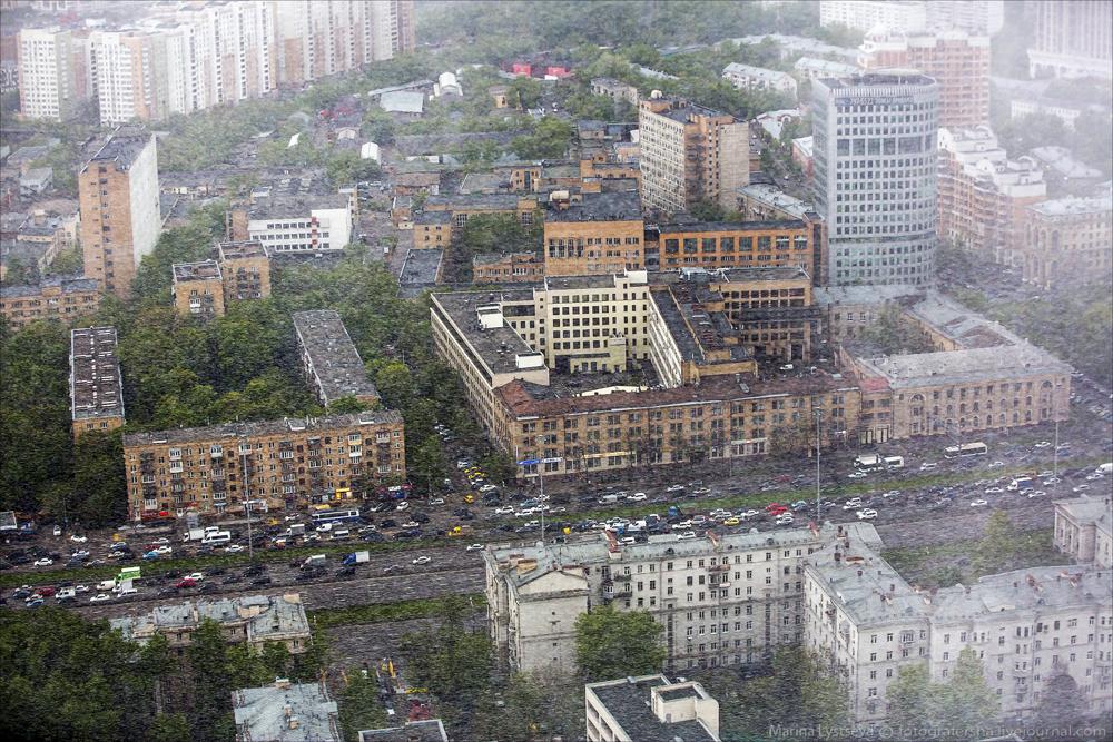 Снег в Москве 7 мая
