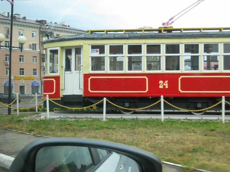 Памятник старому трамваю, Казань
