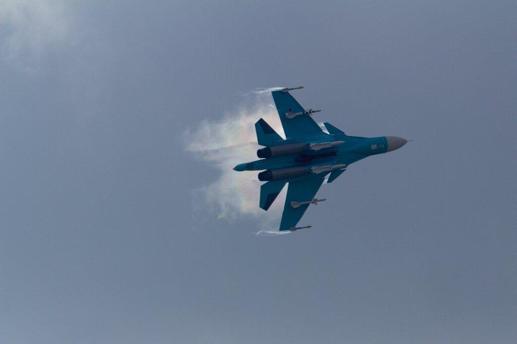 Су-34 и эффект Прандтля-Глоерта, МАКС-2015