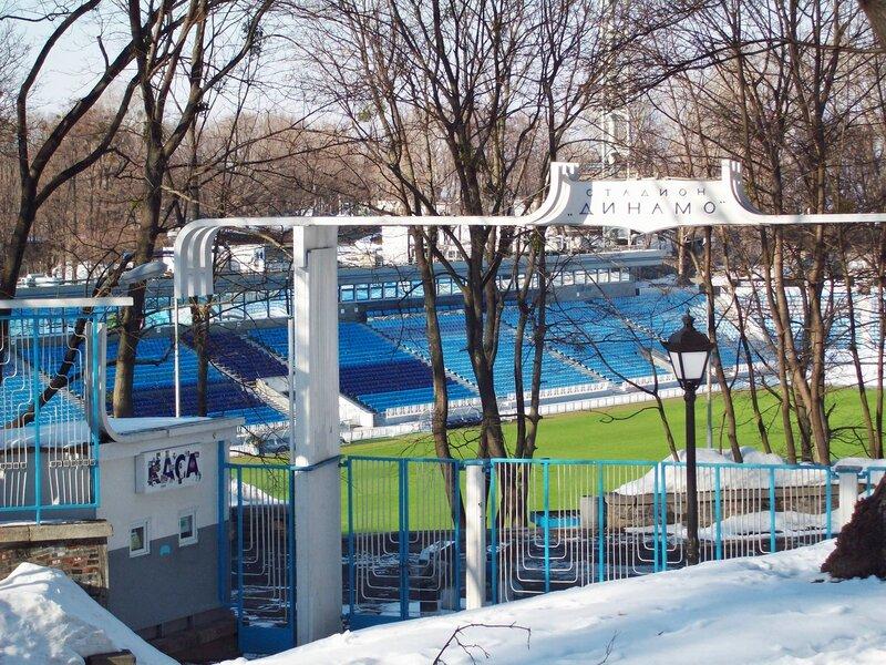 Вход на стадион Динамо из Мариинского парка