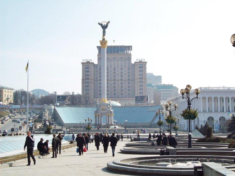 Пешеходная зона Майдана Незалежности