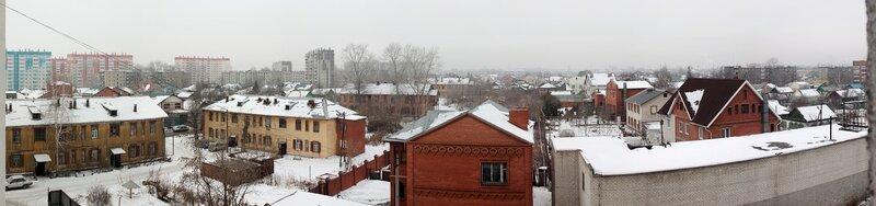 Челябинск, панорама, вид со Стахановцев 120а, Ленинский р-н, март 2012