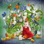 """Скрап набор """"цветочная улыбка"""" 0_74162_ffb9afd6_S"""