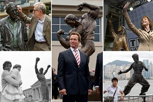 Памятники знаменитостям