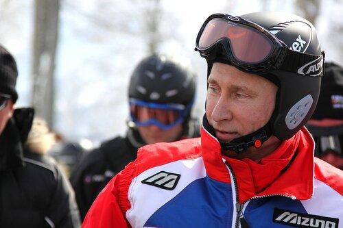 Путин на отдыхе в горах Красной Поляны