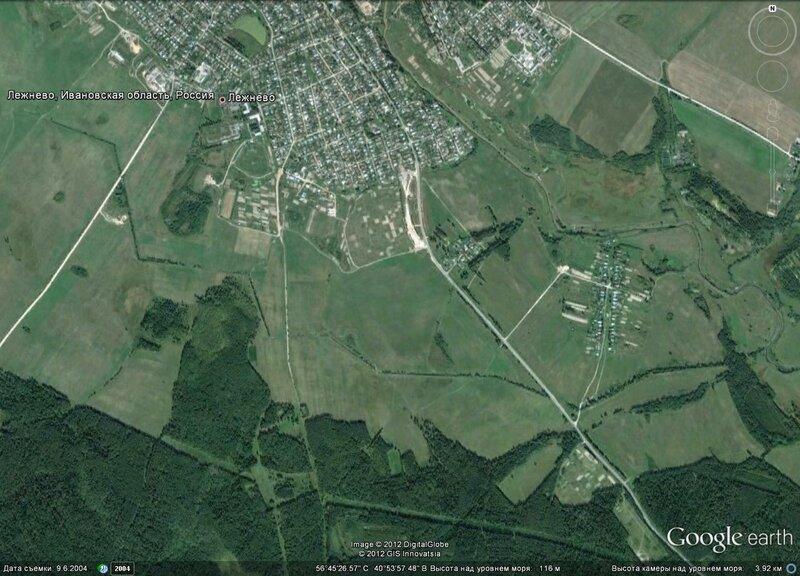 Противотанковый ров возле Лежнево