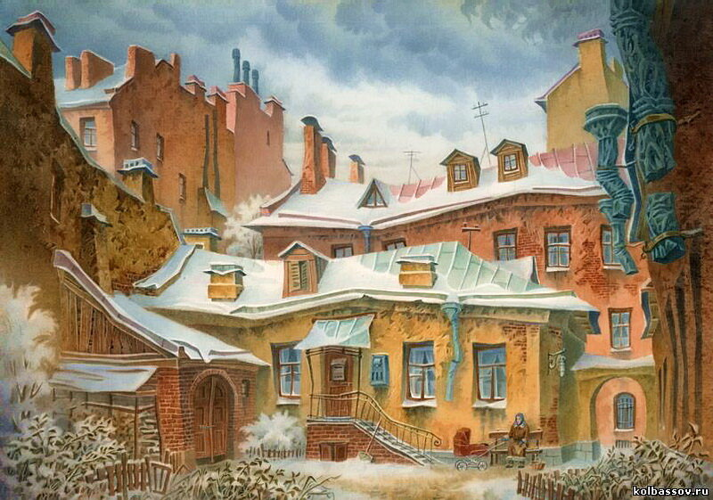 Колбасов В. Н. Домик Ани, бумага, акварель
