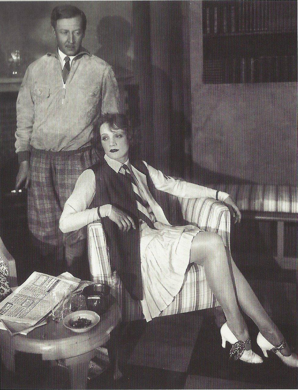 1927. Марлен Дитрих с немецким актером Фрицем Одемаром, Берлин