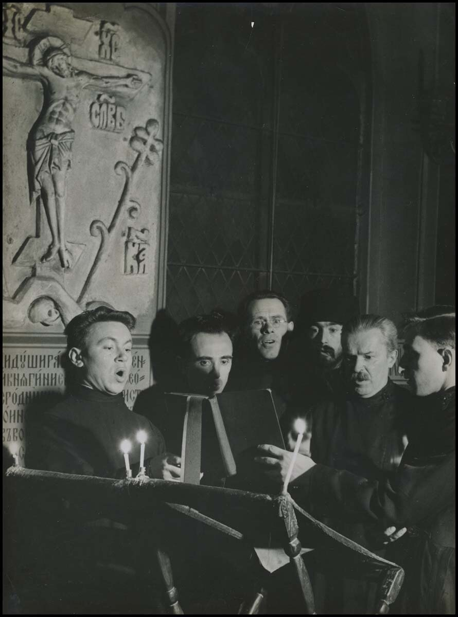 1936. Хор студентов академии  в Париже