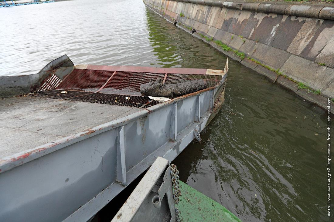 очистка Москвы-реки теплоход для очистки водоемов МС-1