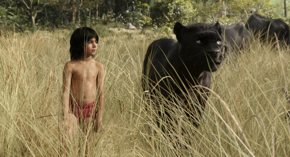 Mowgli (newcomer Neel Sethi) and Bagheera (voice of Ben Kingsley) embark on a captivating journey in ?The Jungle Book,? an all-new live-action epic adventure about Mowgli, a man-cub raised in the jungle by a family of wolves, who is forced to abandon the