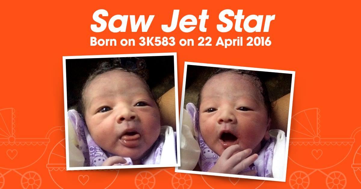 Новорожденного назвали в честь авиакомпании