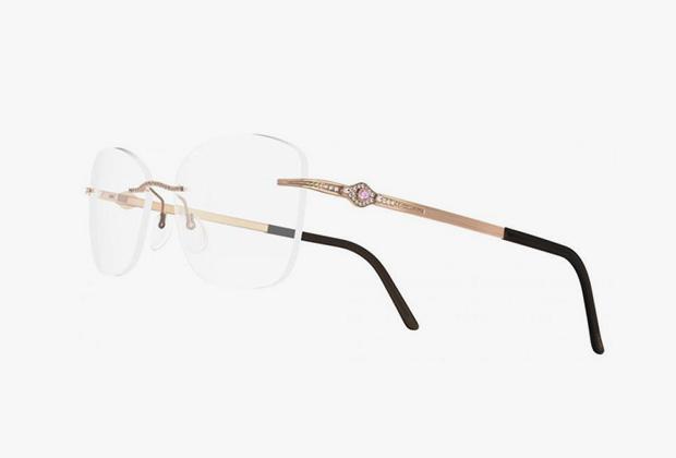 Silhouette представил золотые очки с драгоценными камнями