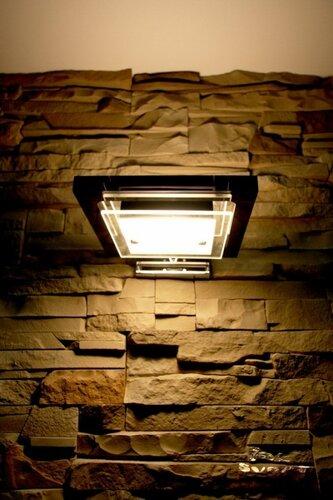028. интерьер, коридор, камень, светильник