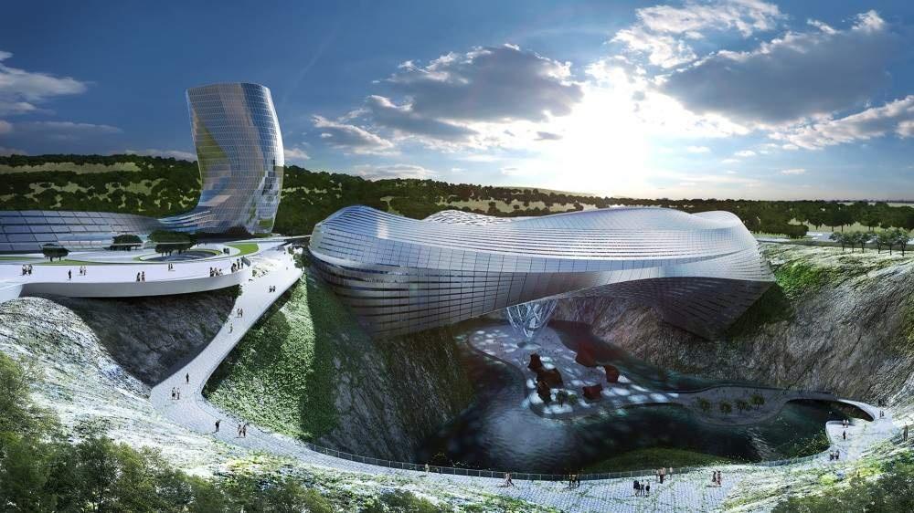 Похожий намежпланетную станцию изфантастических фильмов комплекс «Даванг» будет завершен уже всам