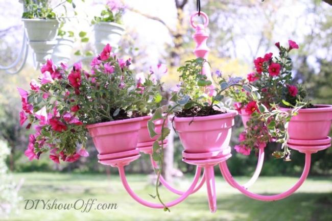 Люстра может радовать нетолько светом, ноицветочной красотой, аинструкция, как сделать такую пре