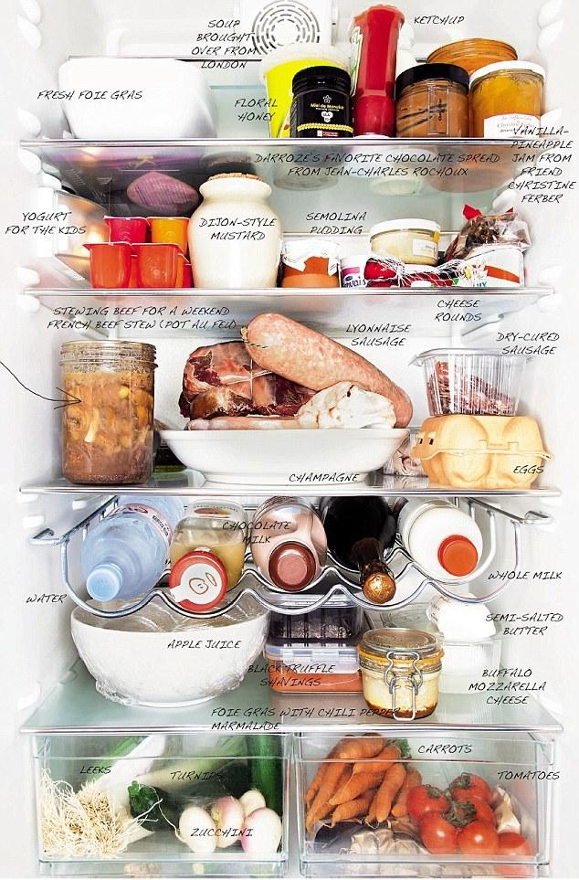 2. Вот что скрывает холодильник лучшего шеф-повара и очаровательной женщины Helene Darroze.