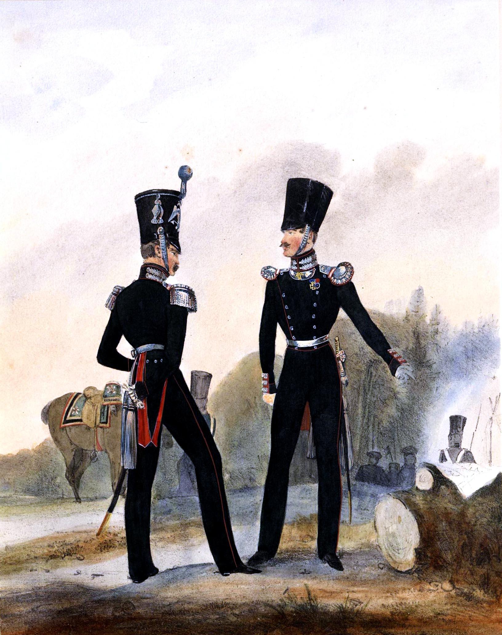 029. Kaiserthum Russland Sapeur-Garde-Bataillon: Stabs- u. Subaltern-Offizier/ Российская империя