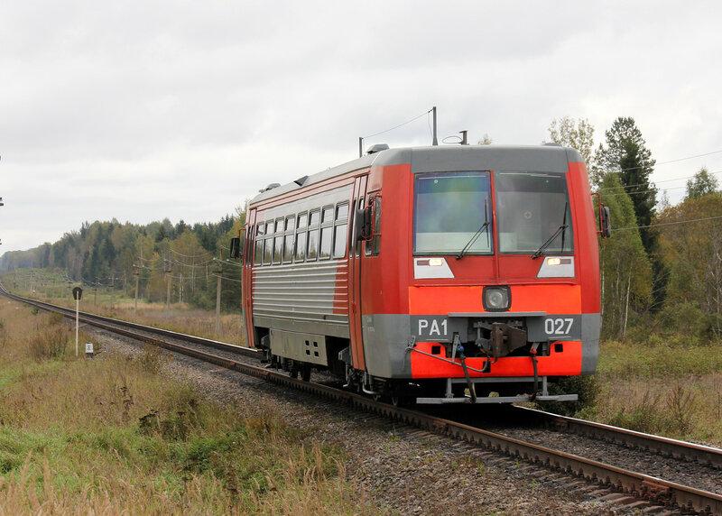 РА1-0027 рейсом 6801, Ржев-Балтийский — Русаново на перегоне Подсосенка - Земцы
