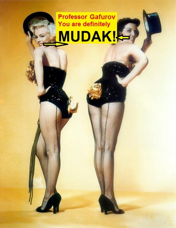 Marilyn Monroe & Jane Russell about Said Z. Gafurov.