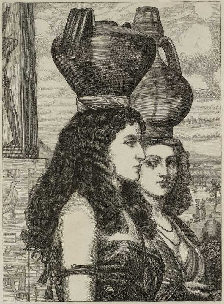 The Israelites in Egypt: Water Carriers null by Sir Edward Poynter 1836-1919