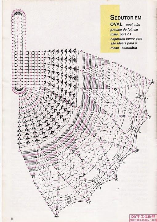 Схемы и больших салфеток крючком