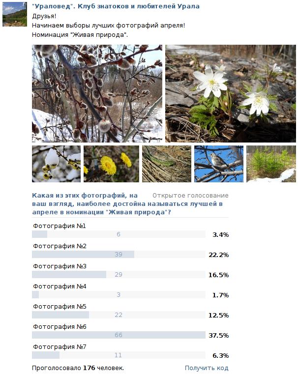 """Результаты конкурса """"Фото месяца - апрель 2014"""" в номинации """"Живая природа"""""""