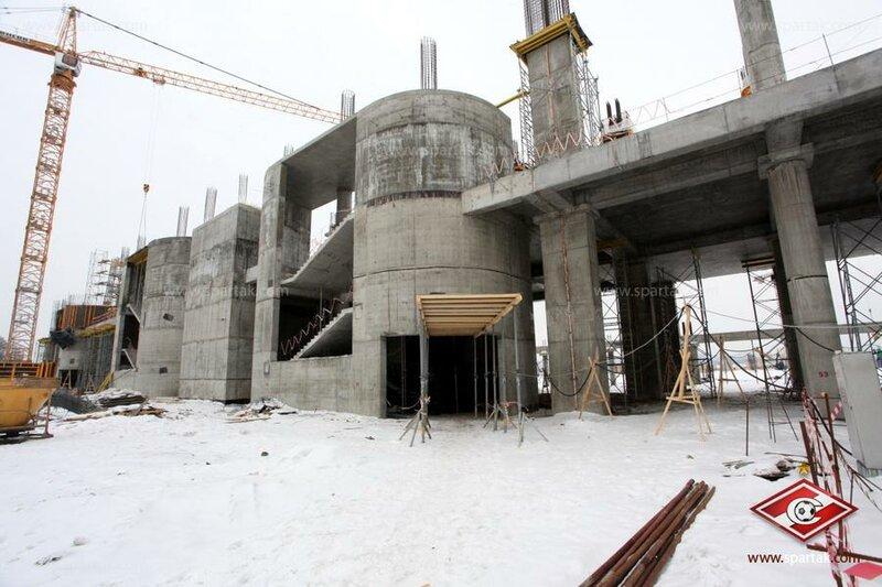 Строительство стадиона «Спартак» март 2012 (Фото)