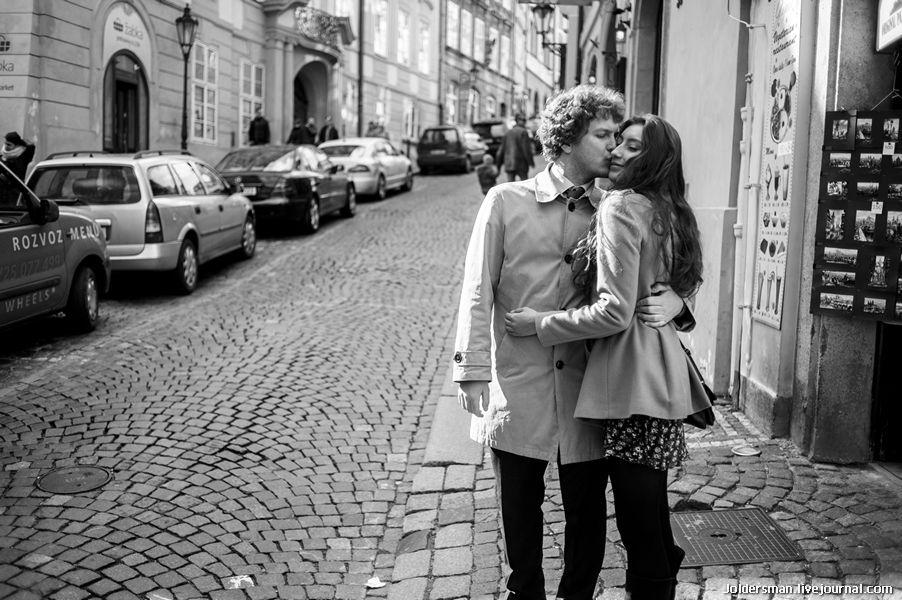 Влюбленные в Праге - фотосессия в мае