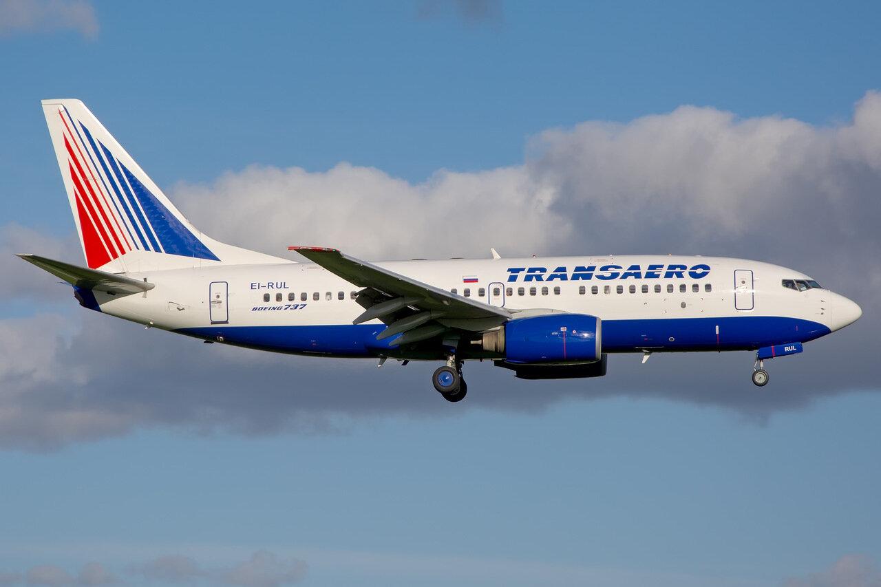 Boeing 737-7K9. Transaero Airlines. EI-RUL.