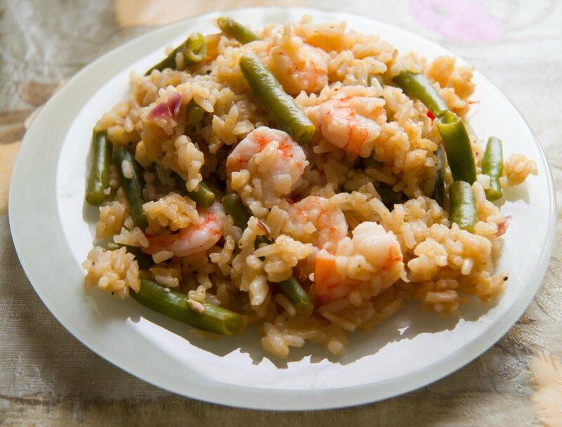 Рис в карибском стиле