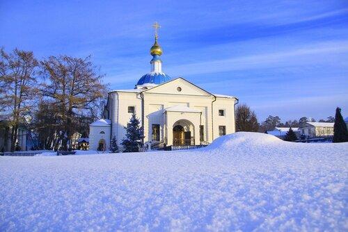 Казанский храм Оптиной пустыни