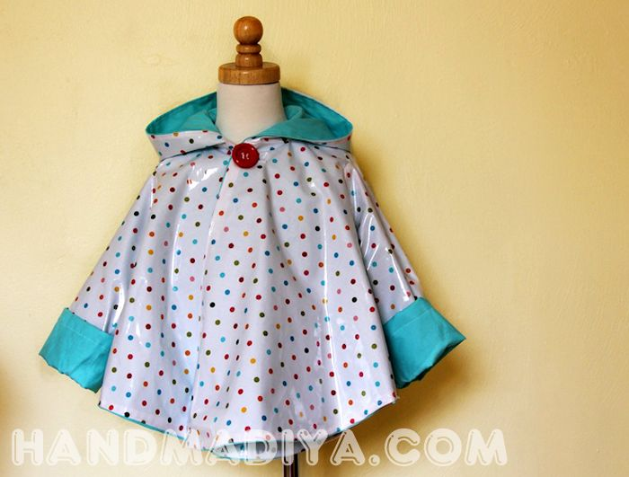 How to sew a poncho yourself from oilcloth