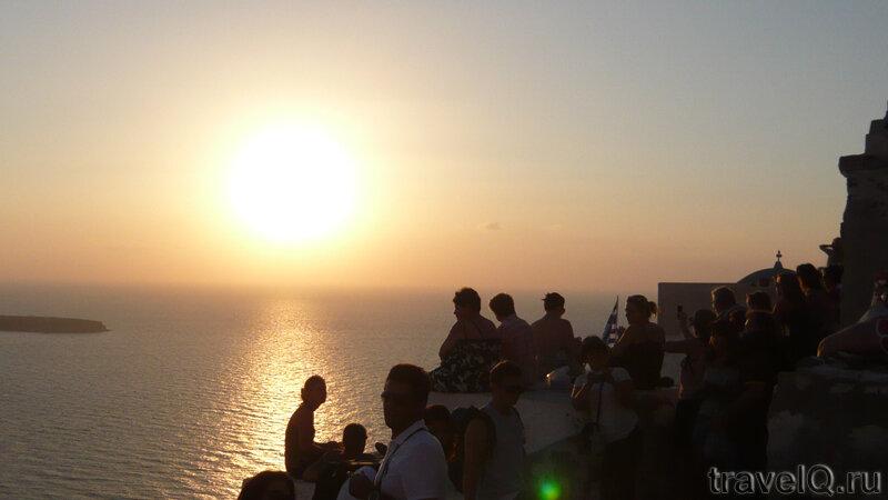 Санторини. Закат в Ия