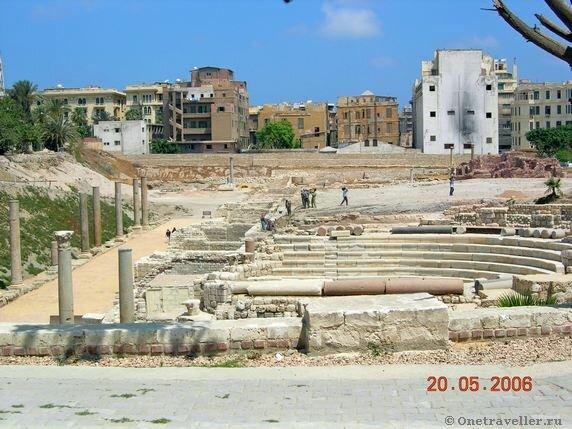 Египет.Александрия. Римский амфитеатр-1.