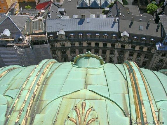 Дания. Копенгаген. Вид с крыши купола Мраморной церкви.