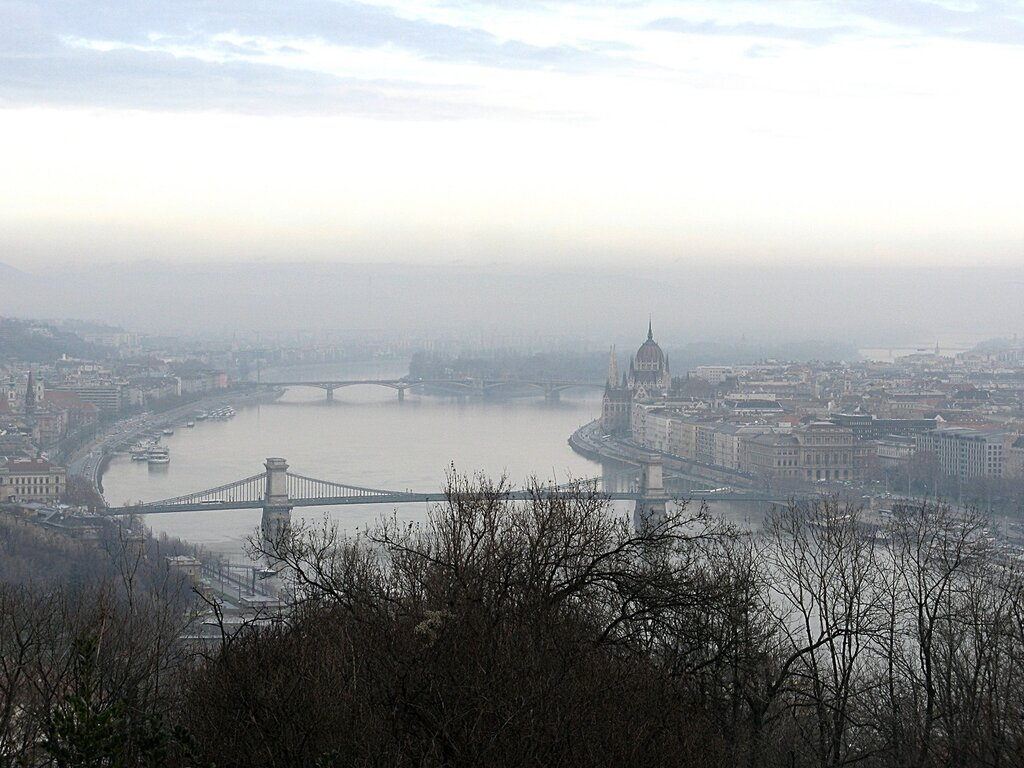 Budapest view from the Gellert hill