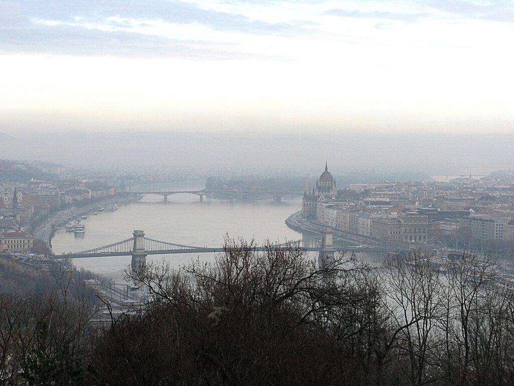 Будапешт, вид с горы Геллерт