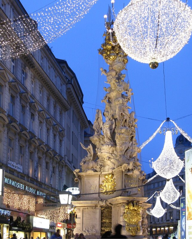 Vienna. Graben street in Christmas illumination