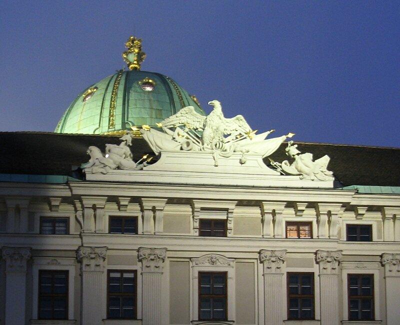 Evening in Vienna. Hofburg Place