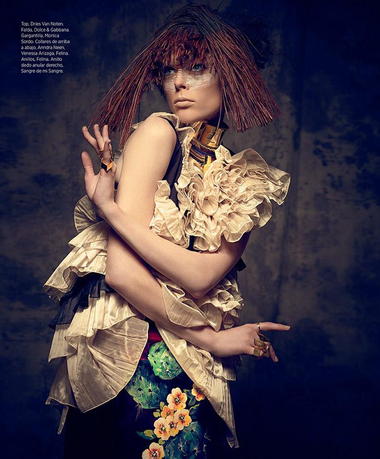Coco Roch в июньском номере Harper's Bazaar En Espanol 2014
