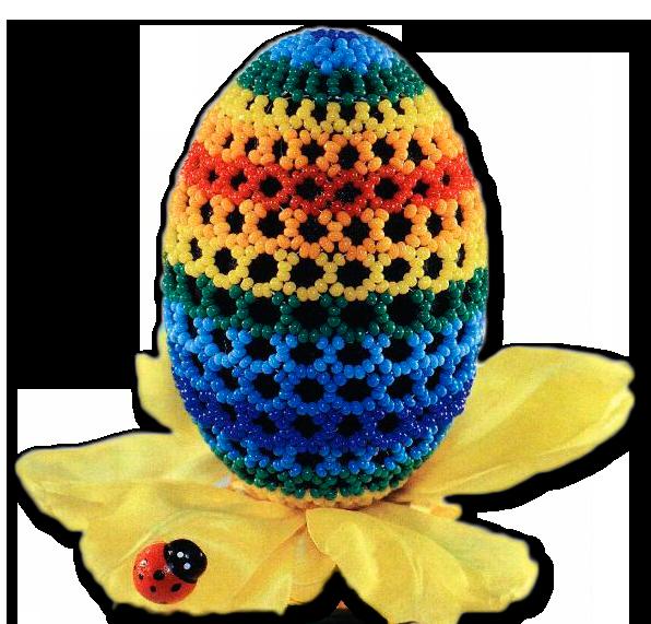 пасхальное яйцо из бисера поросенок схема - Сделай сам!