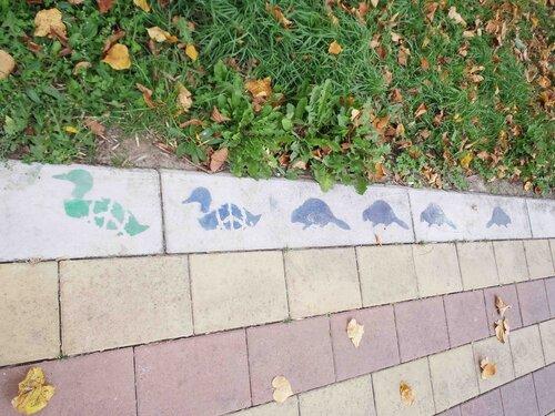 украшенные дорожки парка