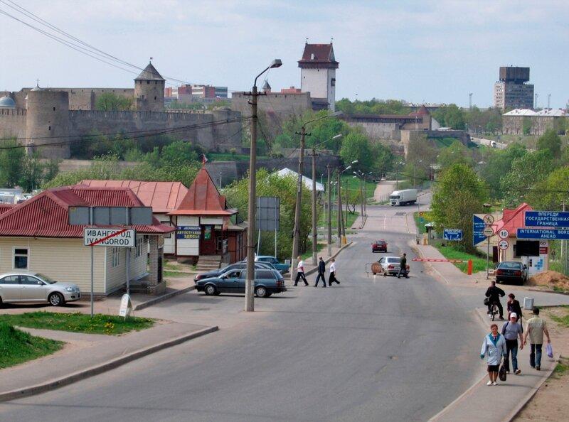 Погранпереход Ивангород-Нарва