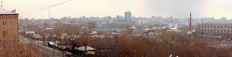 Челябинск. Март 2012. Вид с Российской 55