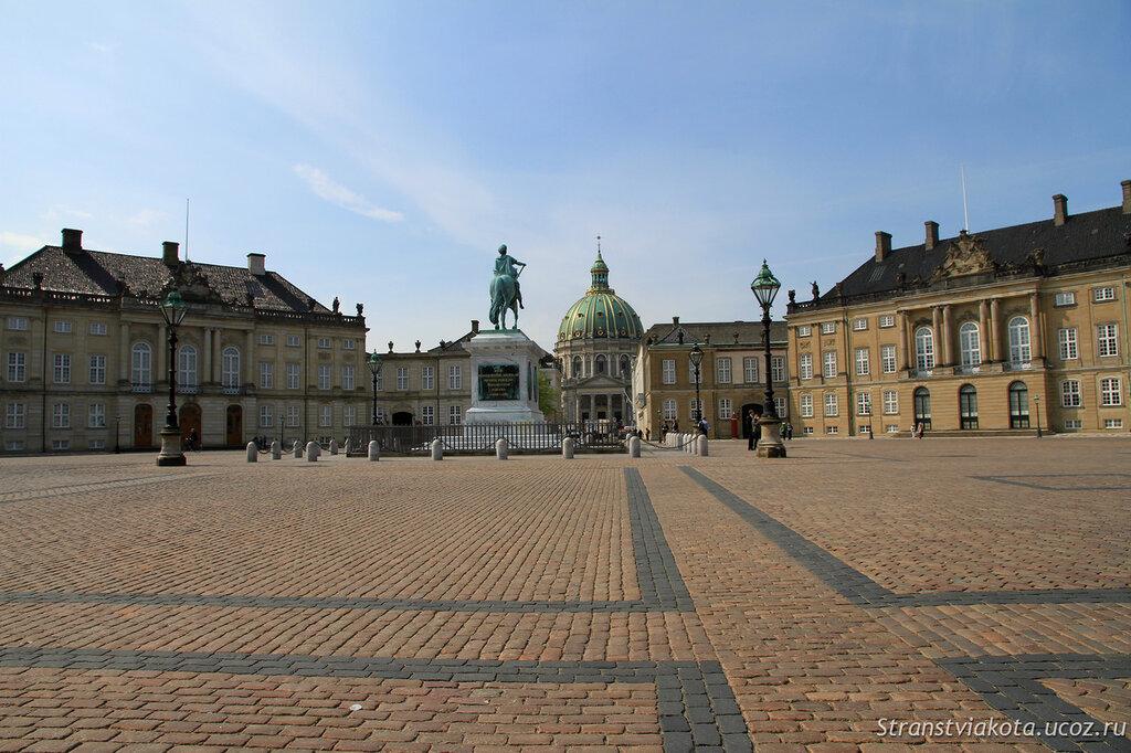 Площадь и дворцы Амалиенборг, Копенгаген