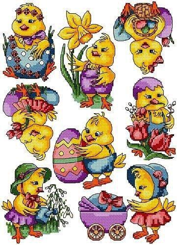 Пасхальные цыплята (вышивка