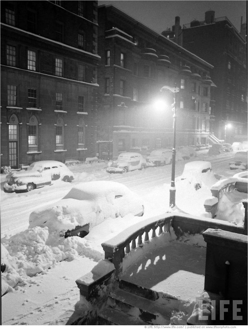 Большой снег в Нью-Йорке