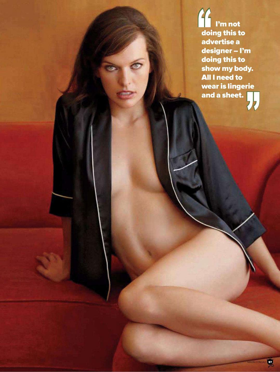 Milla Jovovich / Милла Йовович в журнале Maxim Australia, март 2012 / фотограф Matt Jones